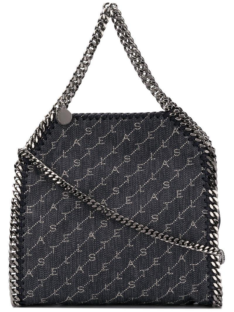 a7c16b7ac20d Lyst - Stella McCartney  falabella  Mini Monogram Canvas Tote in ...