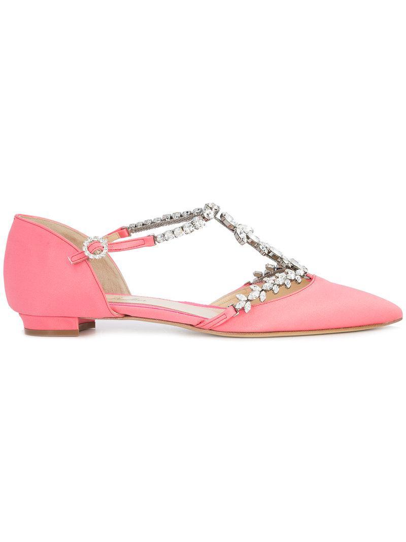 Monique Lhuillier Sabina Chaussures Ballerine - Rose Et Violet 9GgdR4Be