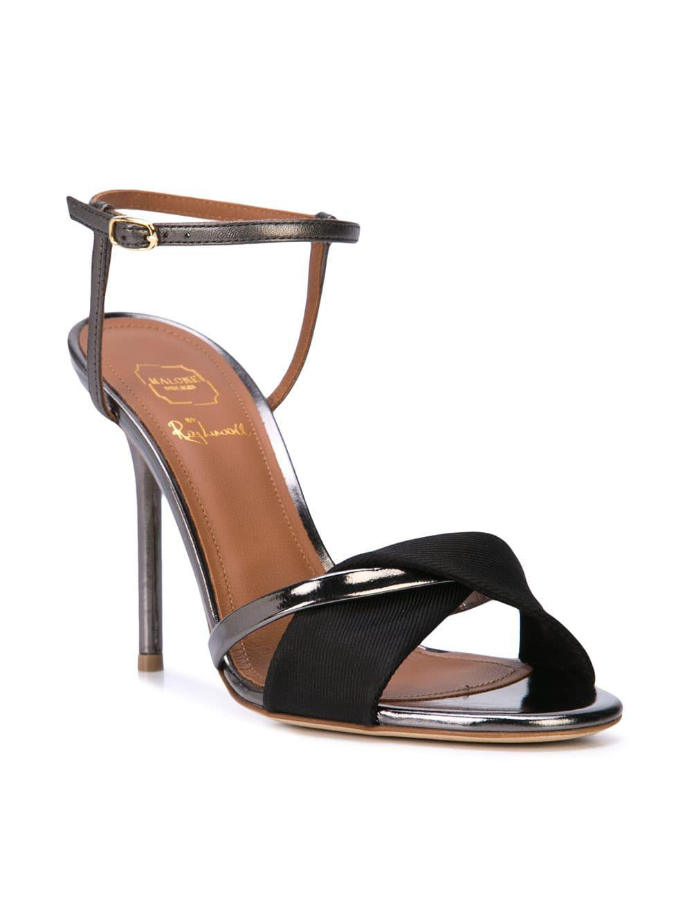 edc5e58990dc Malone Souliers Ankle Strap Sandals in Black - Lyst