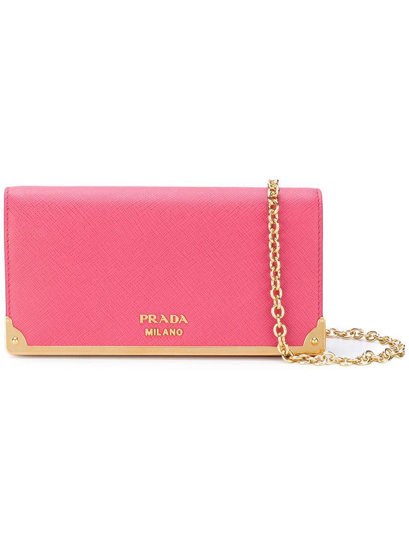 ... promo code for prada milano makeup bag prada. womens pink logo plaque  clutch bag 49138 7df574b9b2d99