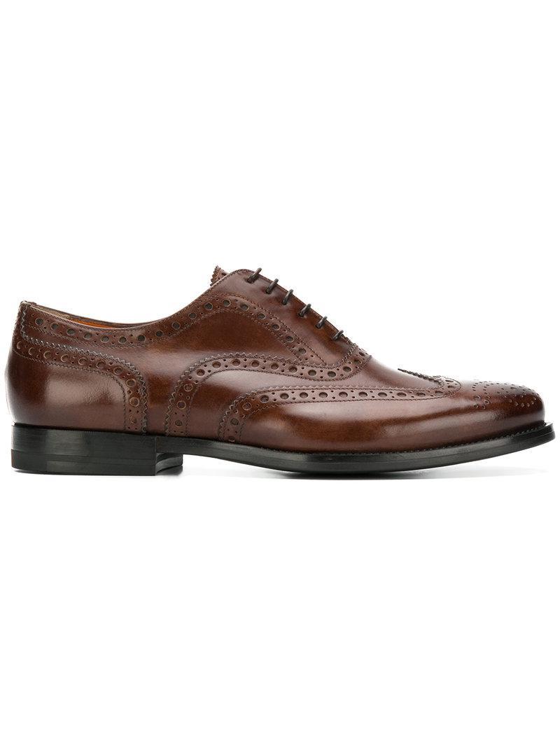 santoniEmbroidered oxford shoes PyOSQ6