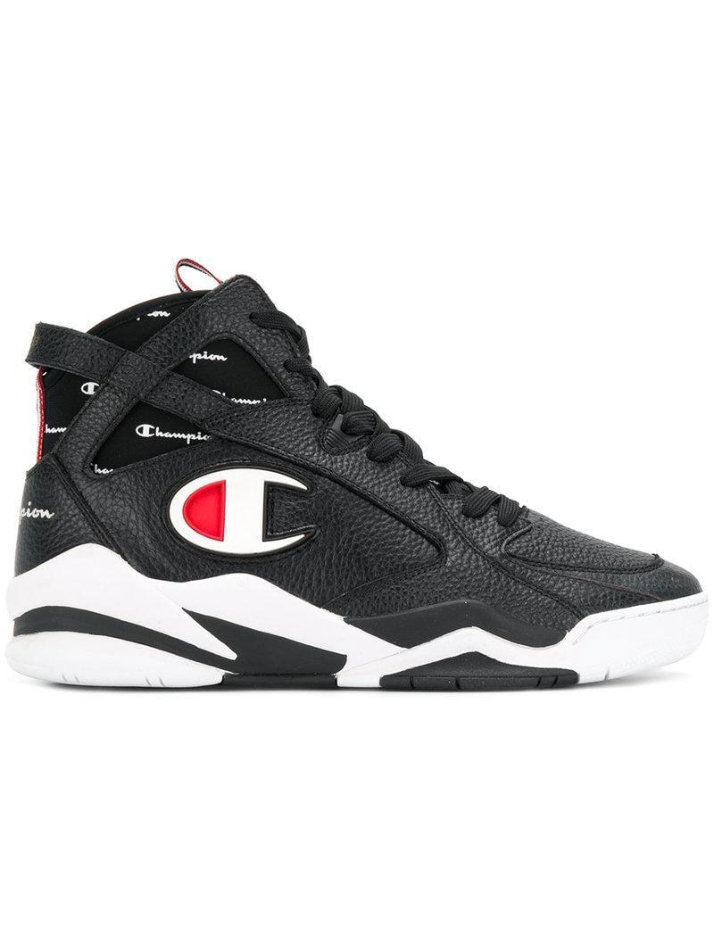Champion Zone 93 Hi Top Sneakers In Black For Men Lyst