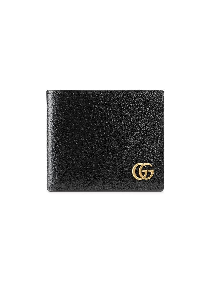b05c613ed307 Lyst - Gucci GG Marmont Leather Bi-fold Wallet in Black for Men ...