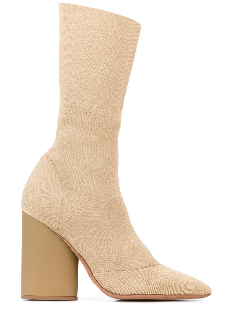 Yeezy lace up heeled boots - Brown farfetch beige Pelle Tienda De Liquidación lF6aEMr