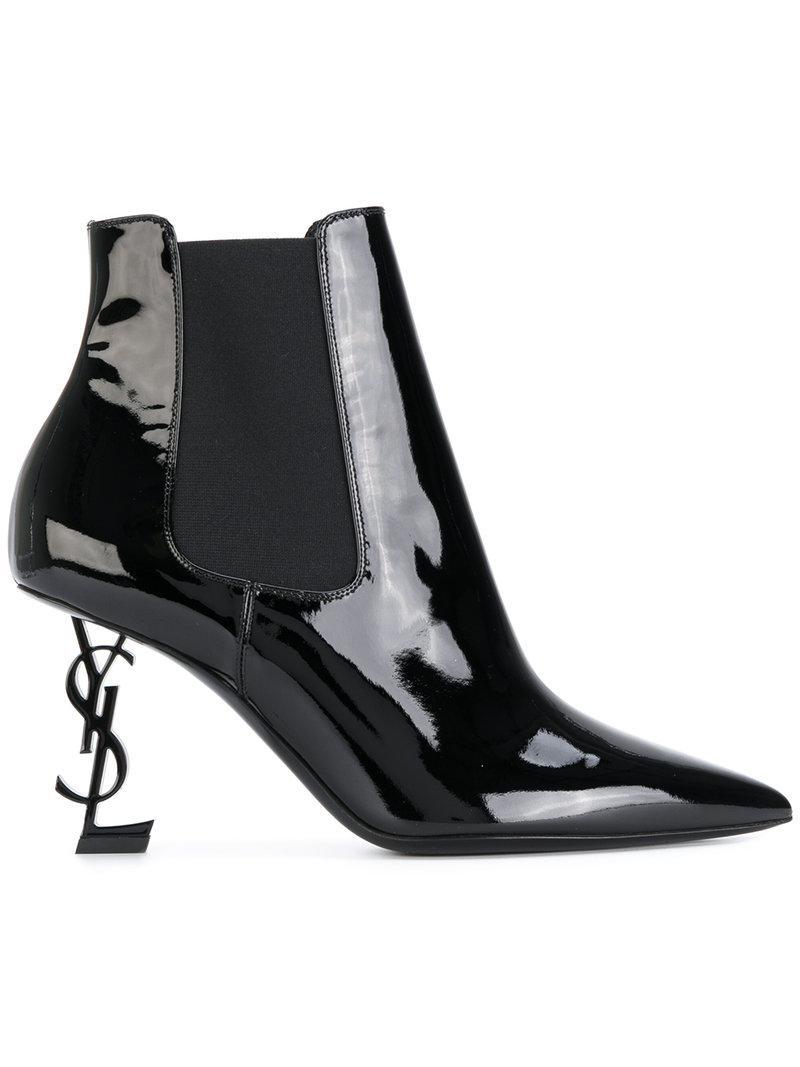 Saint Laurent Opyum 85 patent leather ankle boots fashion Style for sale outlet locations sale online geniue stockist online K77uA6