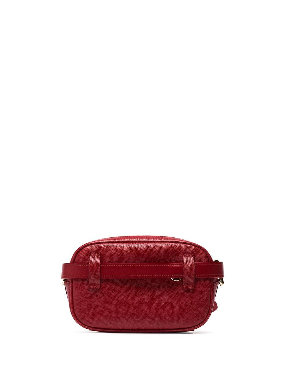 997b90b248de Prada - Red Chain-detail Leather Belt Bag - Lyst. View fullscreen
