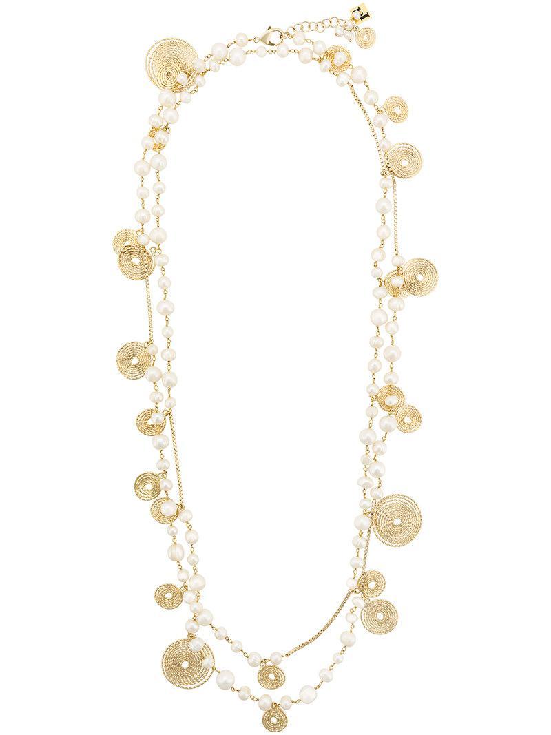 Rosantica gem embellished necklace - Metallic hKXuJJmR2u