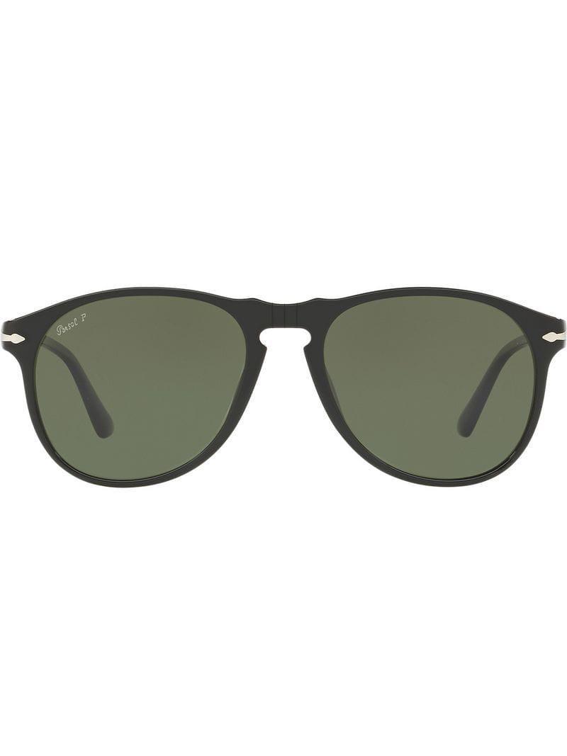 a2fe6a504f Persol Folding Aviator Sunglasses in Black for Men - Lyst