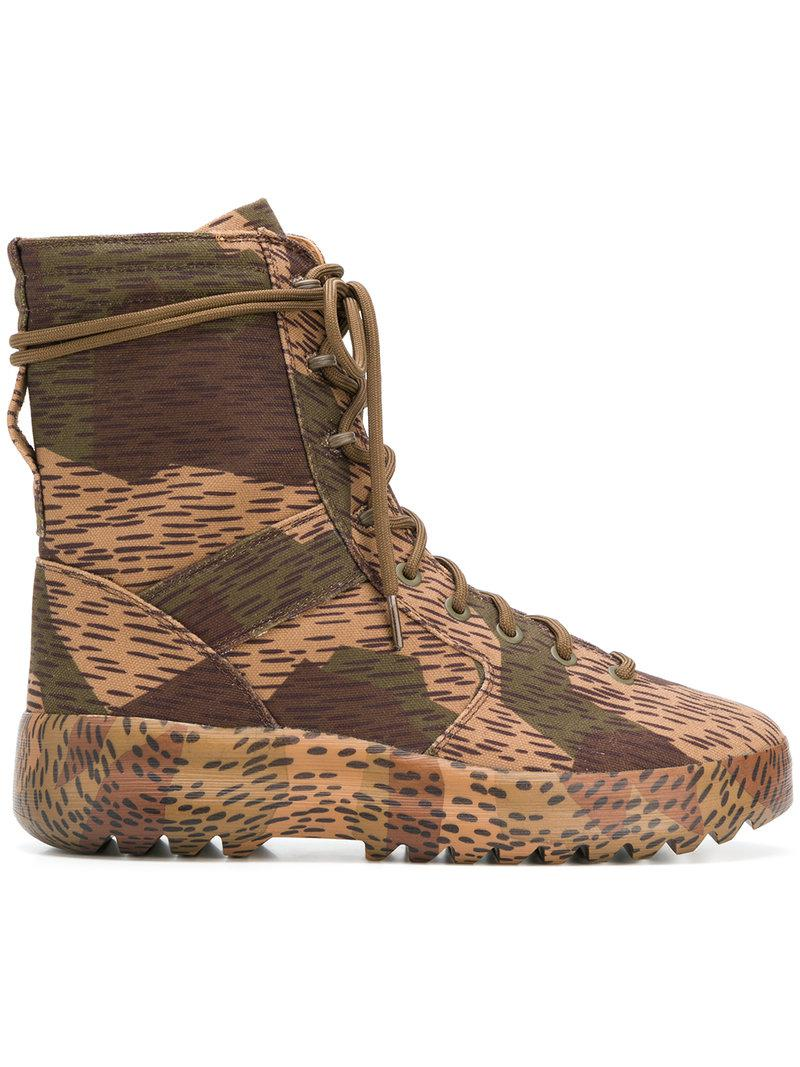 d2615badce0 Lyst - Yeezy Season 6 Military Boots in Green for Men