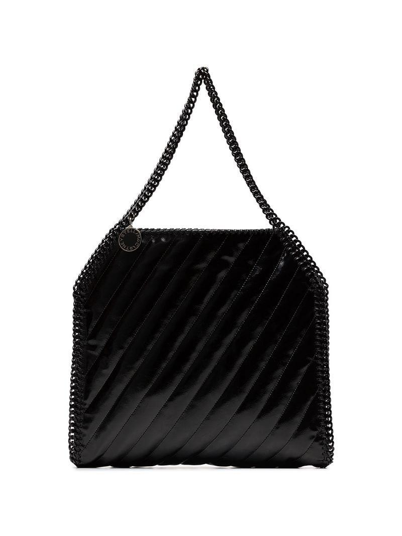 01b6425a7e8ea Lyst - Stella McCartney Black Falabella Quilted Shoulder Bag in ...