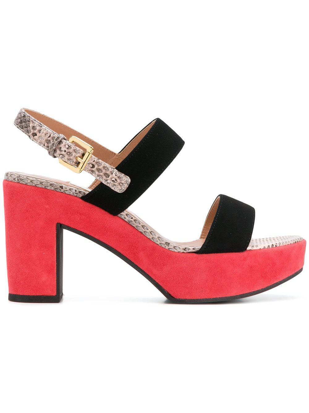 f6c0d6b237d0 L Autre Chose Colour Block Platform Sole Sandals in Black - Lyst