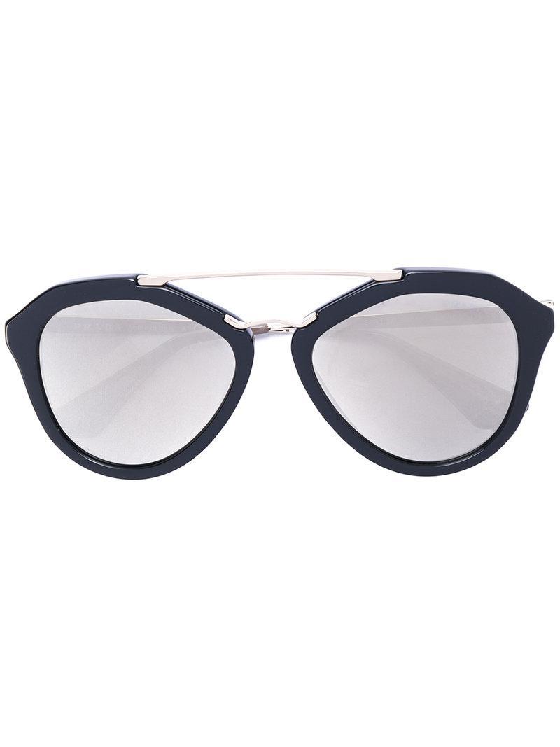 7de478961a91b Lyst - Prada Top Bar Sunglasses in Black