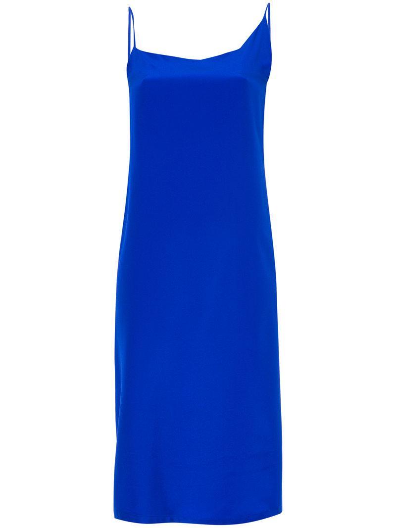 asymmetrical wrap dress - Blue Kacey Devlin MwBOGhgFcF