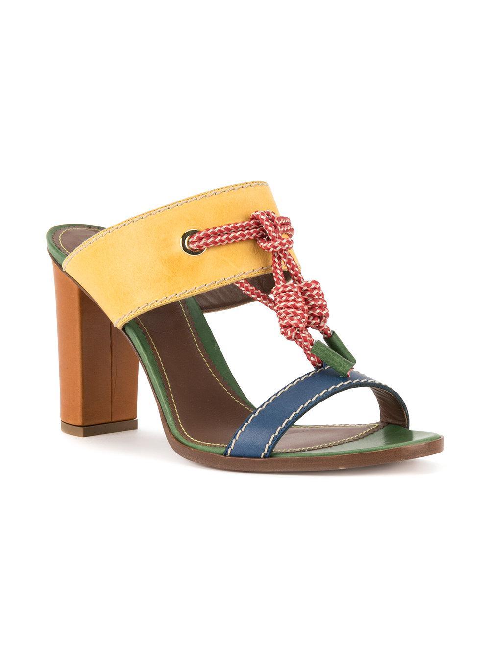 rope detail sandals - Yellow & Orange Dsquared2 qPJEN