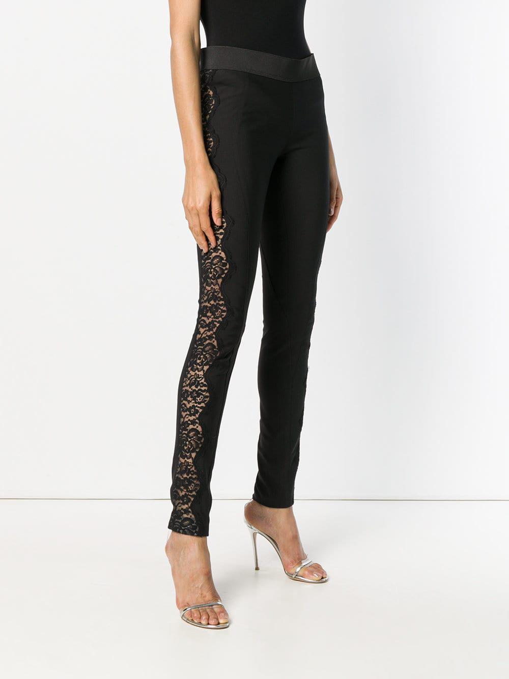922c3534d840b Stella McCartney - Black Lace-embellished leggings - Lyst. View fullscreen