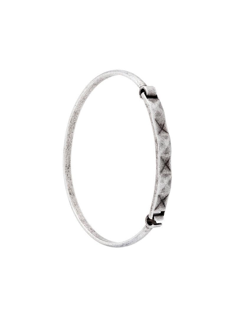 Northskull Pyramid bracelet - Grey tzgUhy