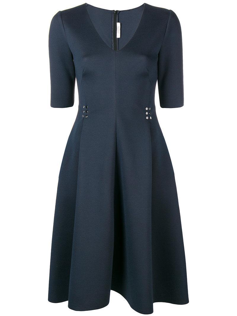 scuba fit-and-flare dress - Blue Dorothee Schumacher kuJTufUZ