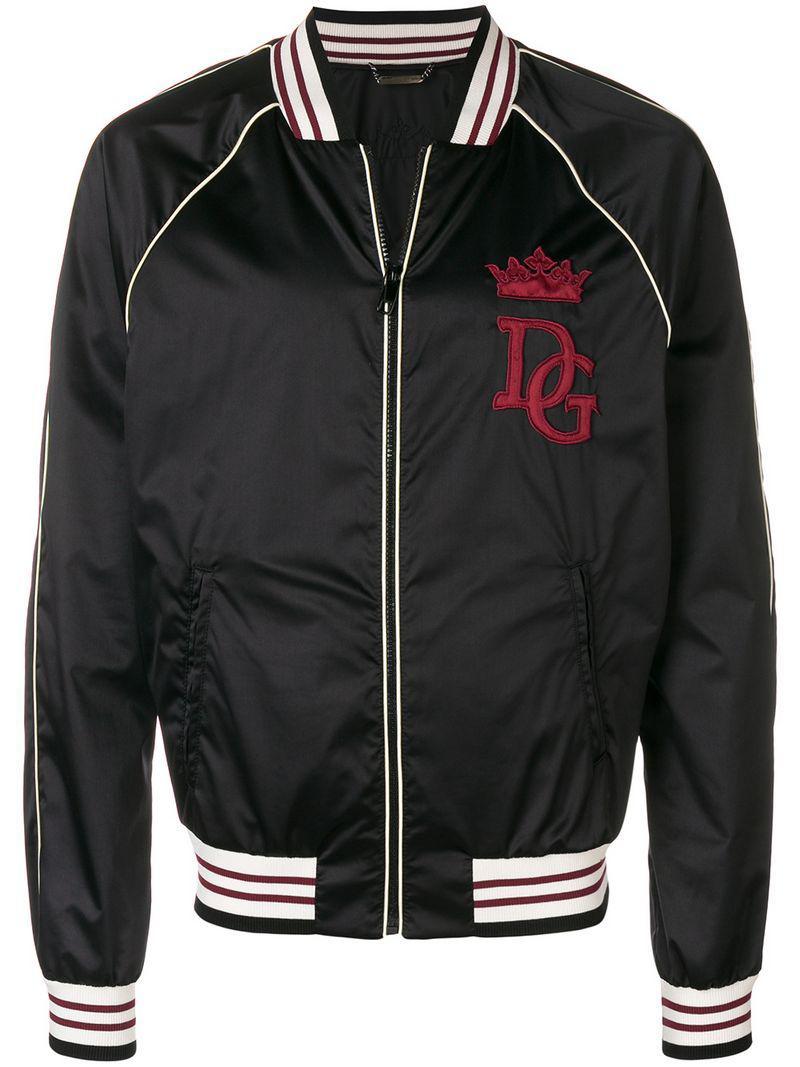 Homme Gabbana Bomber Veste Lyst Pour Logo amp  À Patch En Dolce 4axfWqwF 842c0b5db354