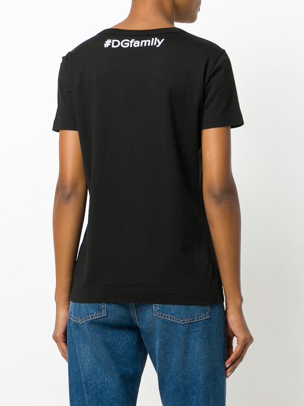 ae64a75e Dolce & Gabbana Vote For D&g Women T-shirt in Black - Lyst