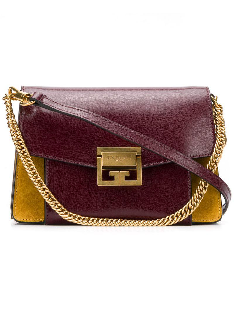 c693c72ca60a Lyst - Givenchy Small Gv3 Shoulder Bag in Red