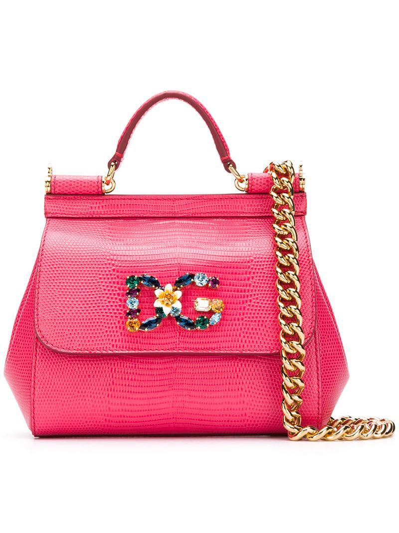 785a0e9b62c Dolce   Gabbana Sicily Small Tote Bag in Pink - Lyst