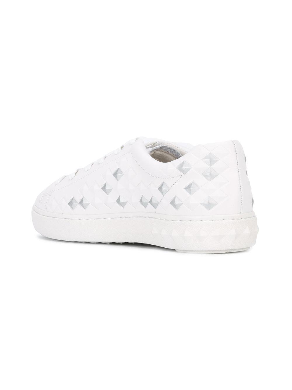 « Panique Bis » Cendres Chaussures Basses Top - Blanc OqLTGtD3Qu