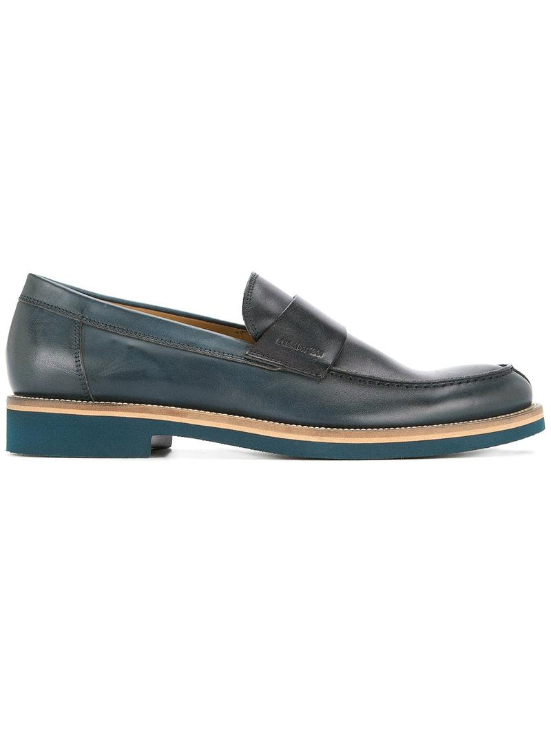 61e75ad2b28 Cerruti 1881 Classic Loafers in Blue for Men - Lyst
