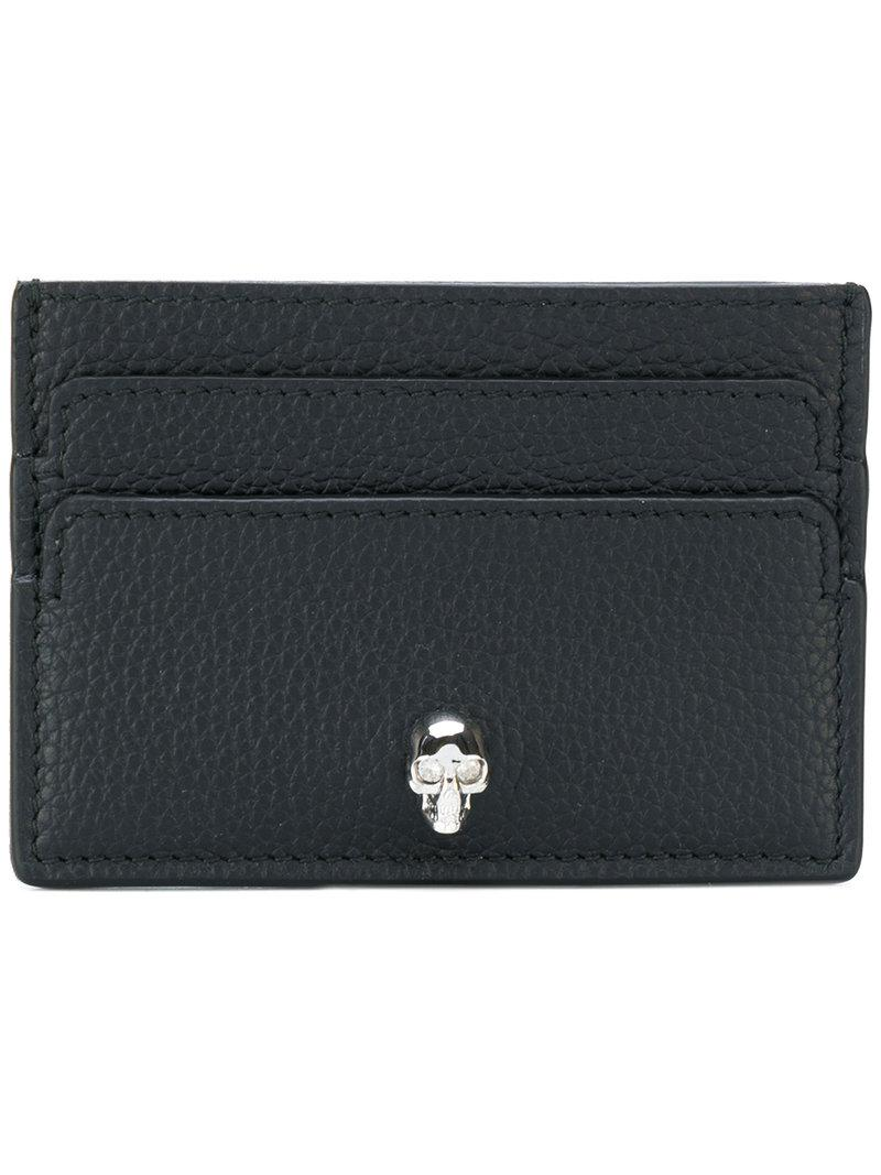 Top Quality Online Buy Cheap Original skull flap cardholder - Black Alexander McQueen Store Cheap Online Cheap Brand New Unisex Outlet Best Sale ayBDLIg
