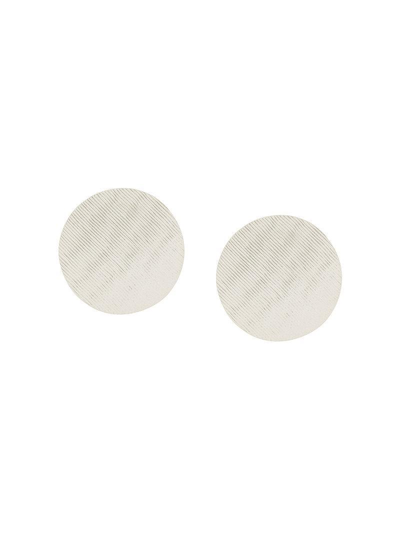 Annie Costello Brown XL Disc earrings - Metallic A5LyYj8WrG