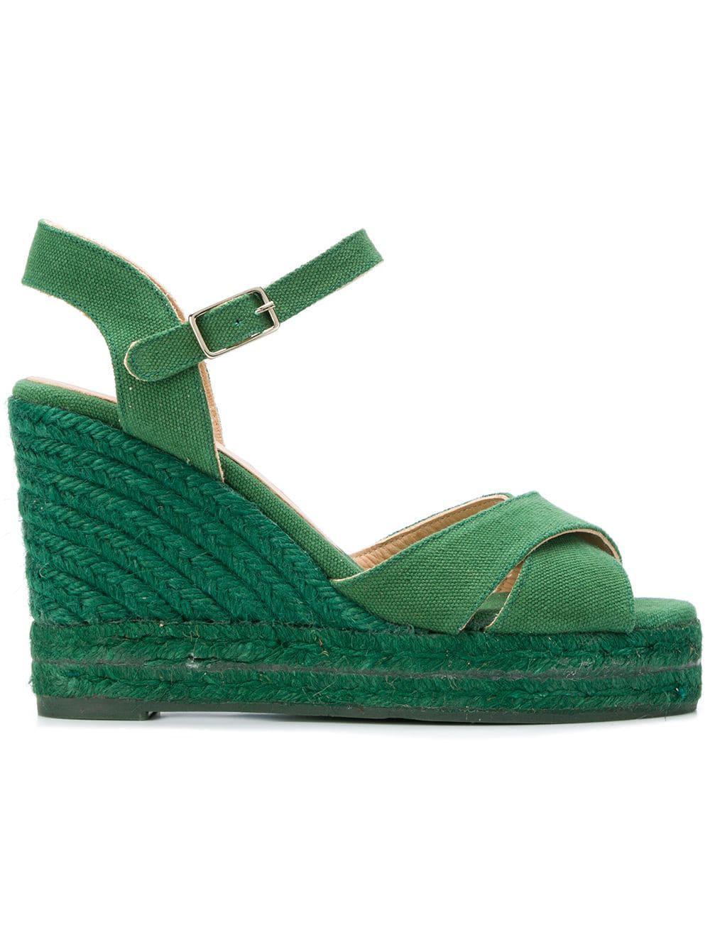 591c632433a Castaner Espadrille Wedge Sandals in Green - Lyst