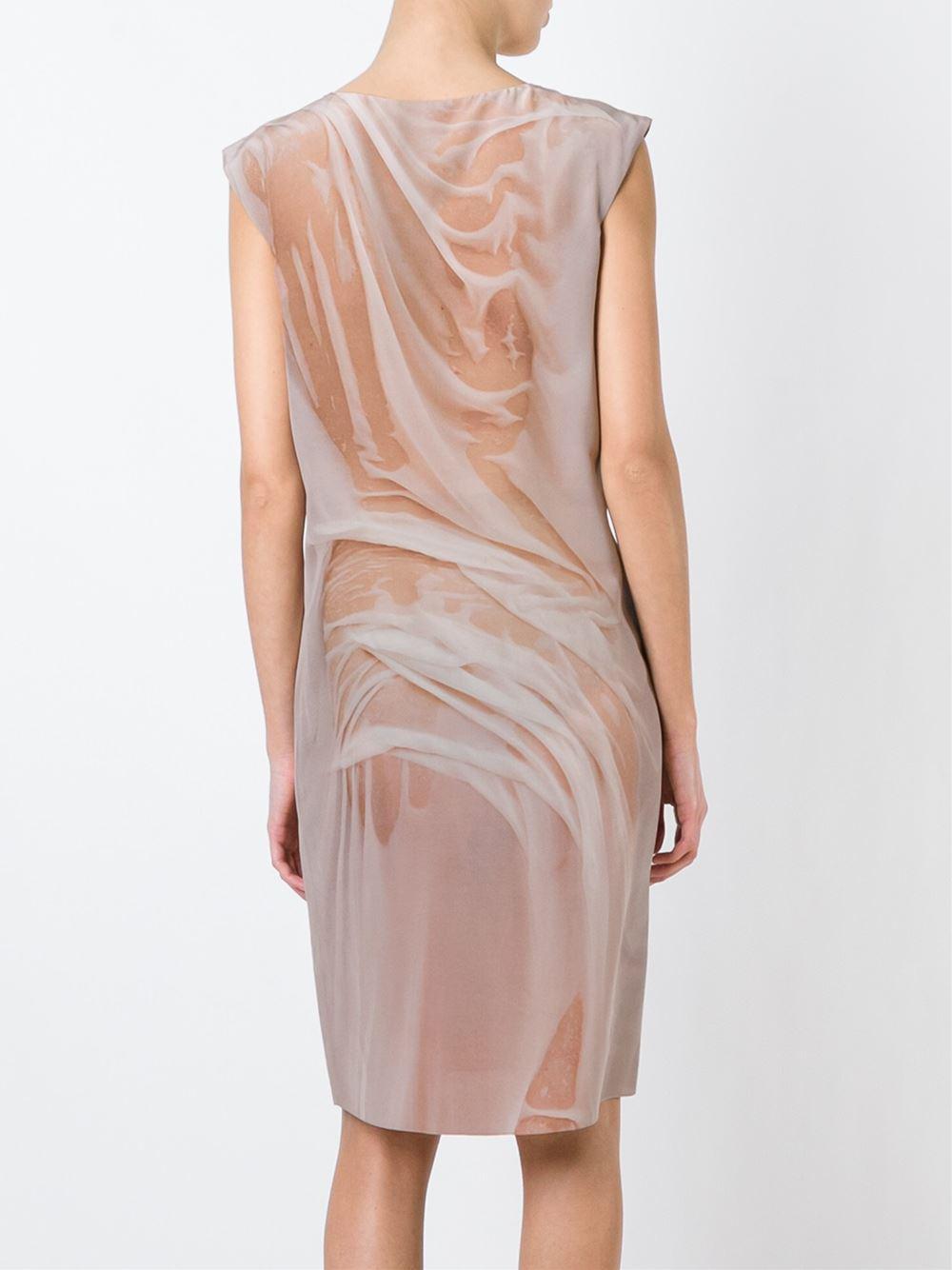 printed shift dress - Pink & Purple Maison Martin Margiela D3fFybQh