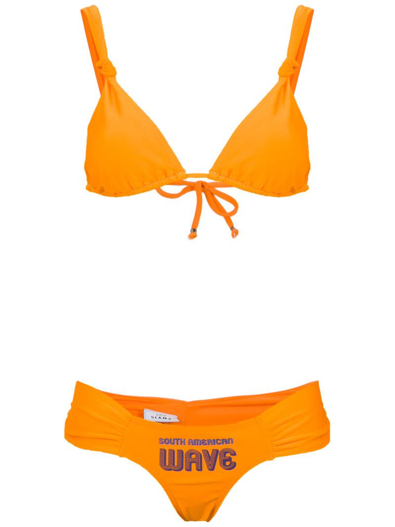 off the shoulder bikini set - Yellow & Orange Amir Slama Very Cheap Cheap Online BnPvHJ