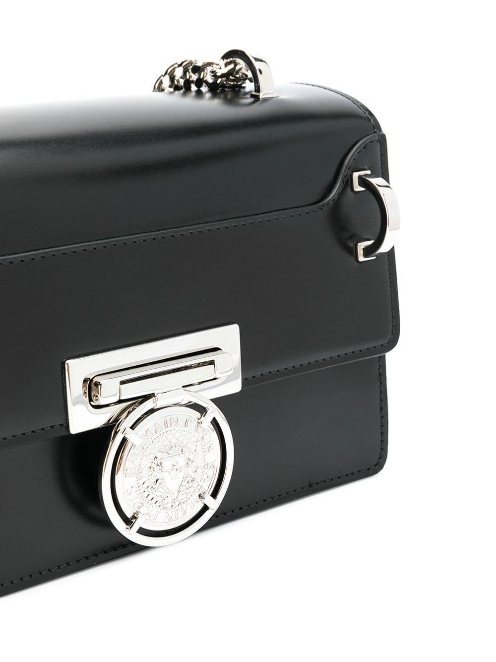 fbb509b4817a Сумка На Плечо 'box' Balmain, цвет: Черный - Lyst