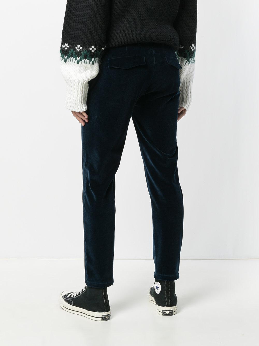 velvet trousers - Blue Department 5 V3gS4W