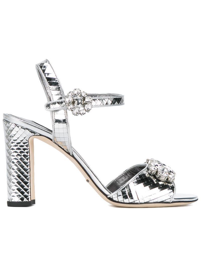Dolce & Gabbana En Miroir Brogues - Métallique A0EbtC