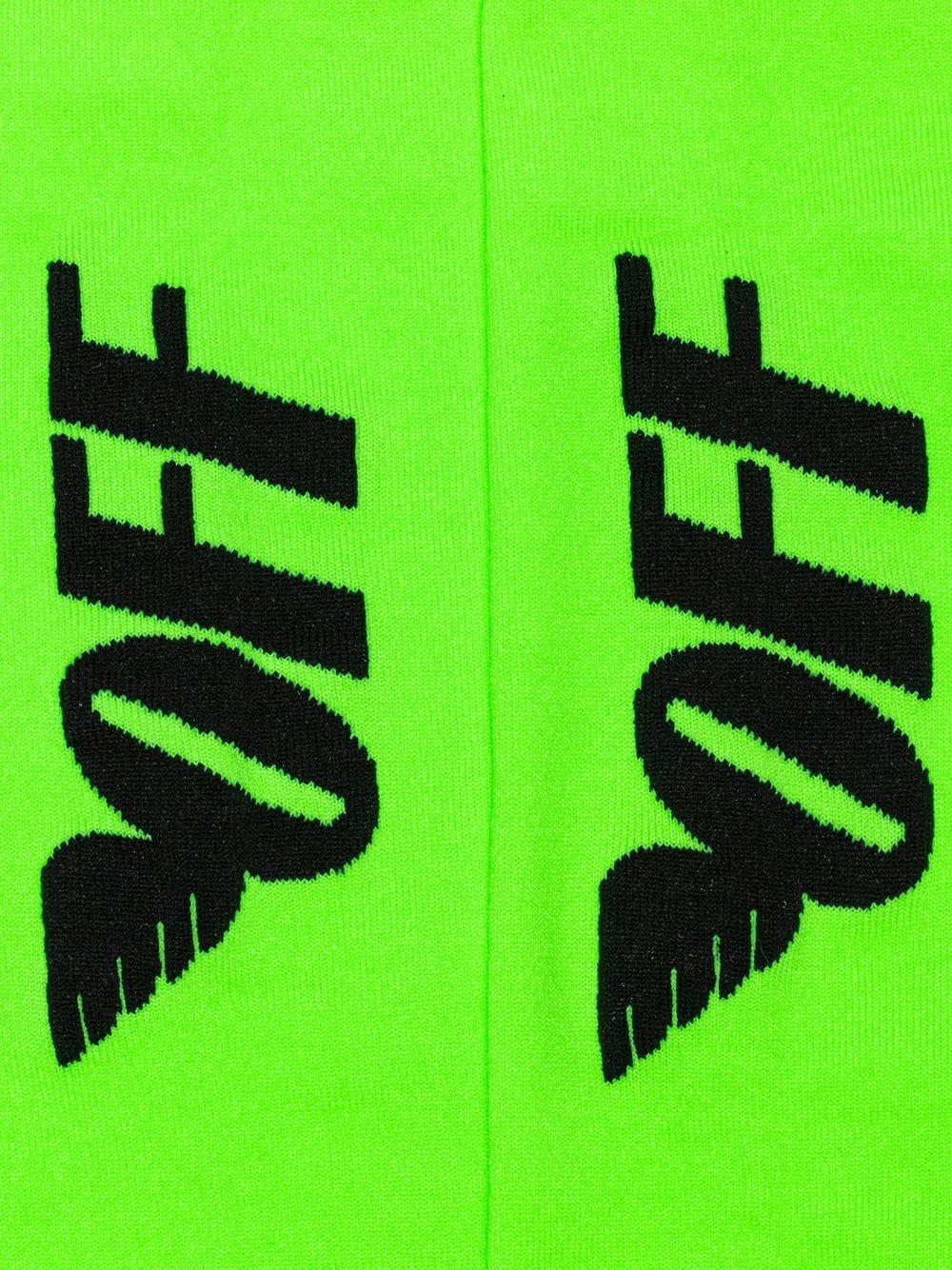 Co Virgil De Off Abloh Logo Motivo Con White Alas Calcetines bgvf76Yy