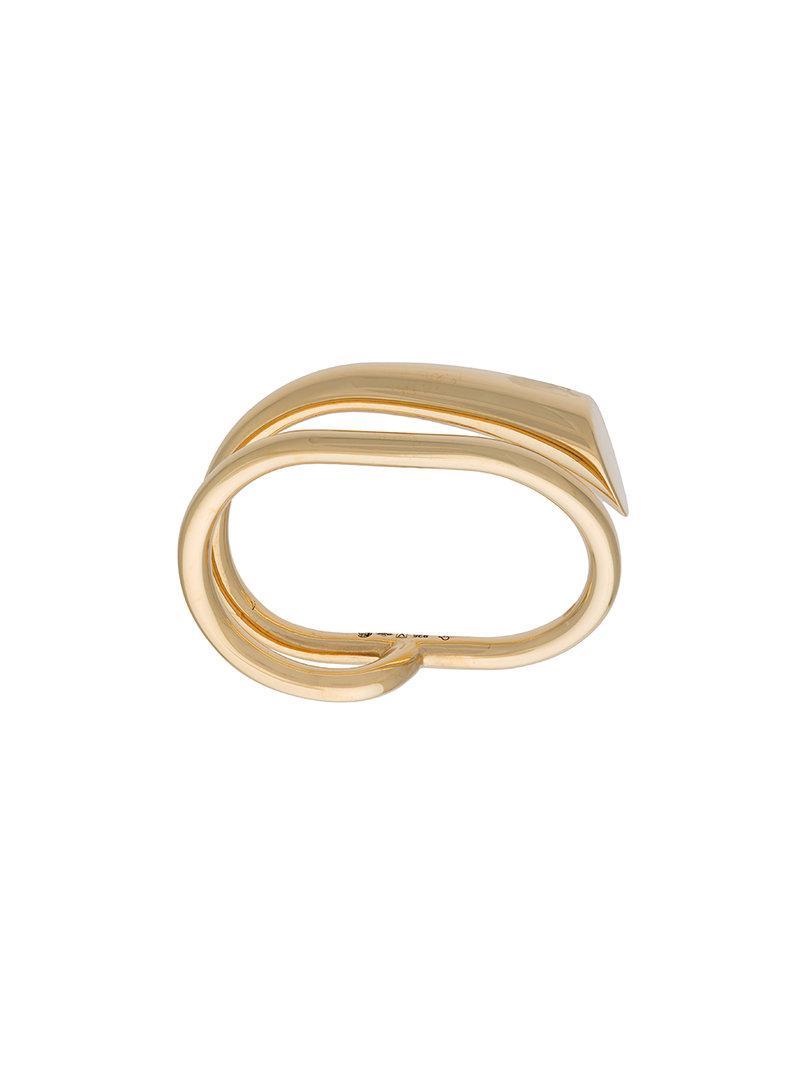 contrast ring - Metallic Charlotte Chesnais QWj25o0Y