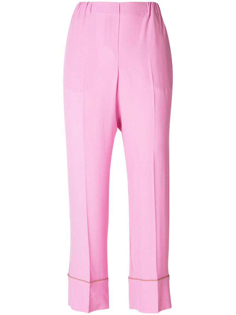 tailored trousers - Pink & Purple N°21 heeQg0w