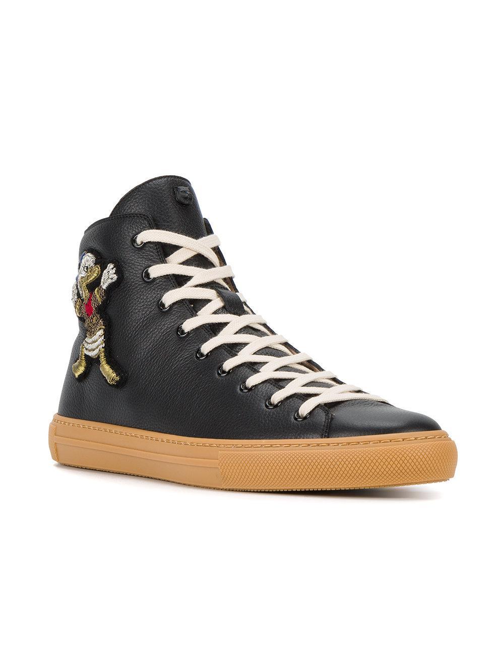 4980f02b54c Gucci Donald Duck Hi-top Sneakers in Black for Men - Lyst