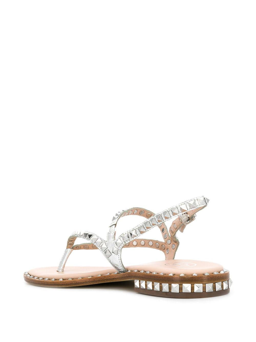 b8f7ca98e Ash - Metallic Peps Studded Sandals - Lyst. View fullscreen