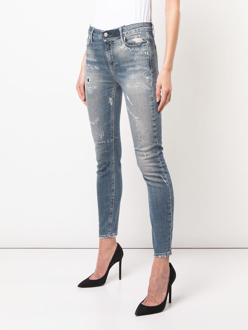 RTA - Blue Ripped Stonewashed Skinny Jeans - Lyst. View fullscreen e110cee9b61