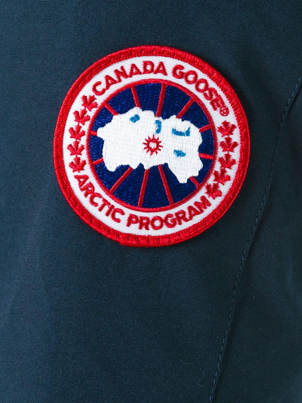 Canada Goose Zipped Padded Coat In Blue Lyst