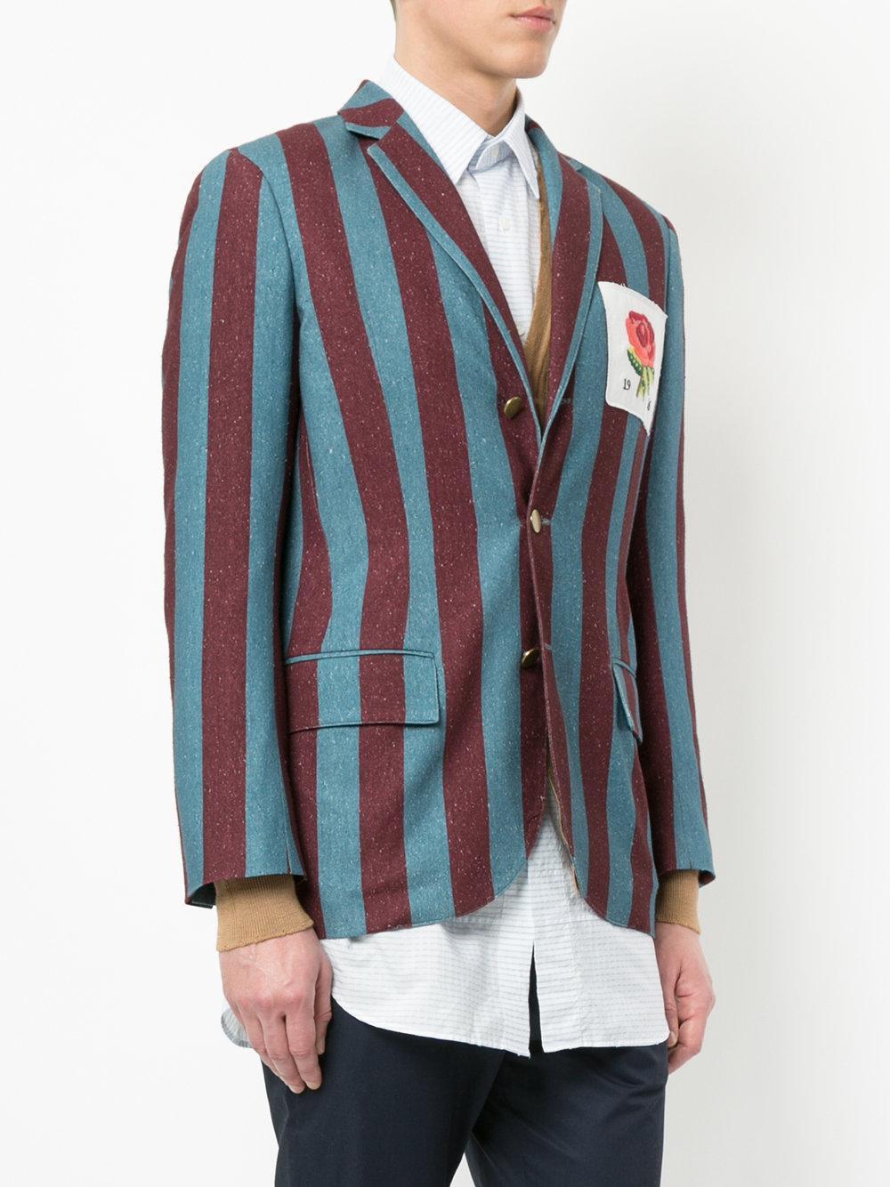 Patch Striped Kent For amp; Blazer Lyst Men Curwen View Blue Fullscreen Rose waatx1Xgq