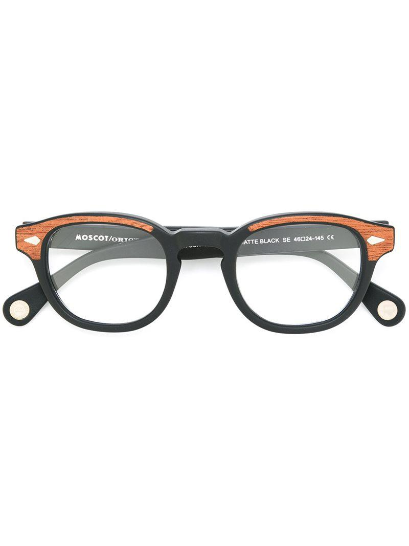 e8de8385d53 Lyst - Moscot Lemtosh Glasses in Black