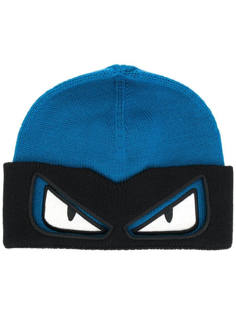 jacquard logo knit beanie - Blue Fendi xnzTFYHLI