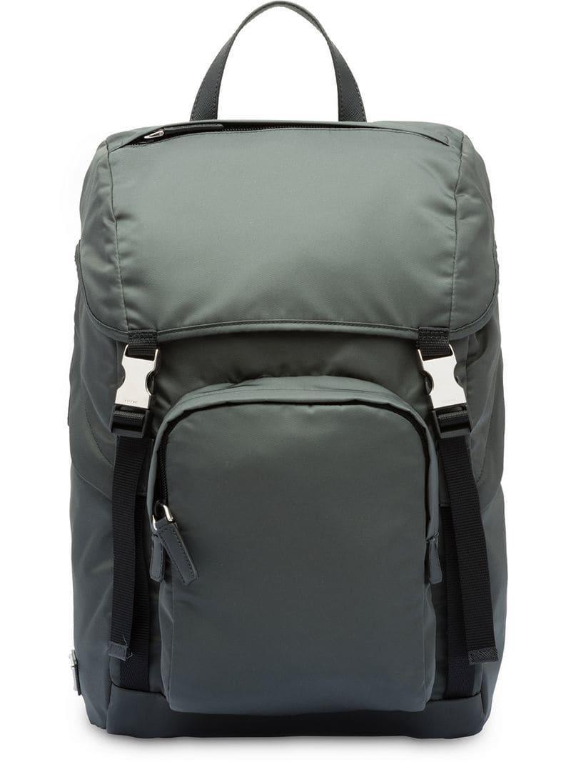 2241bd1ca94b Lyst - Prada Padded Detail Backpack in Gray for Men
