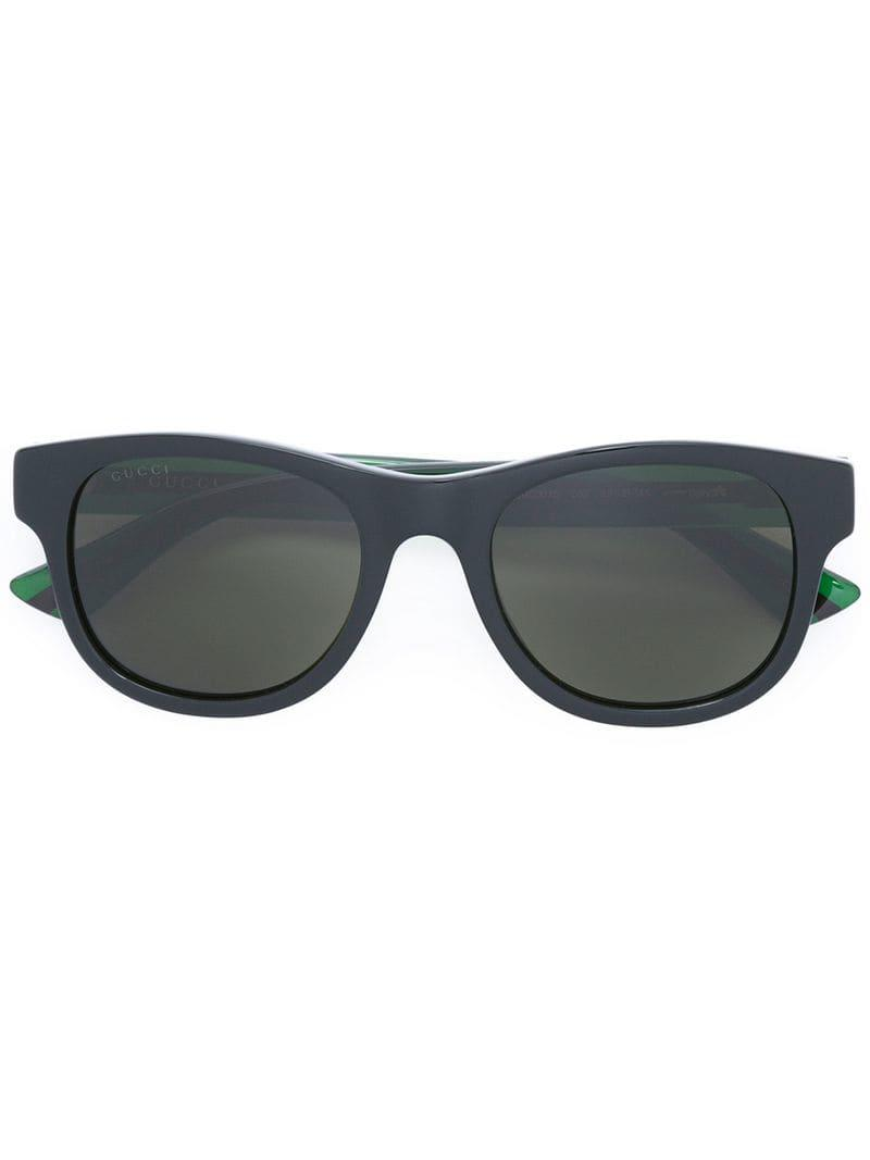 Lyst - Lunettes de soleil à monture carrée Gucci pour homme en ... 7e431bac6653
