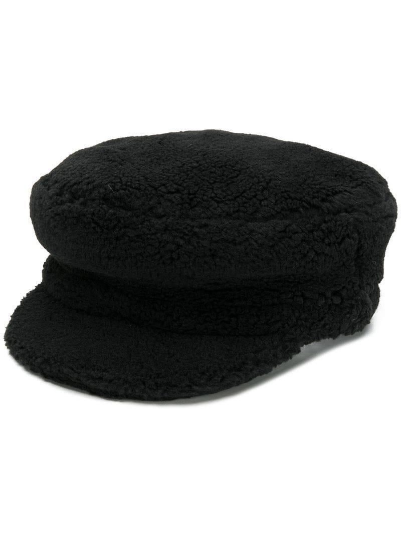 Federica Moretti Classic Hat in Black - Lyst b03407ffc99c