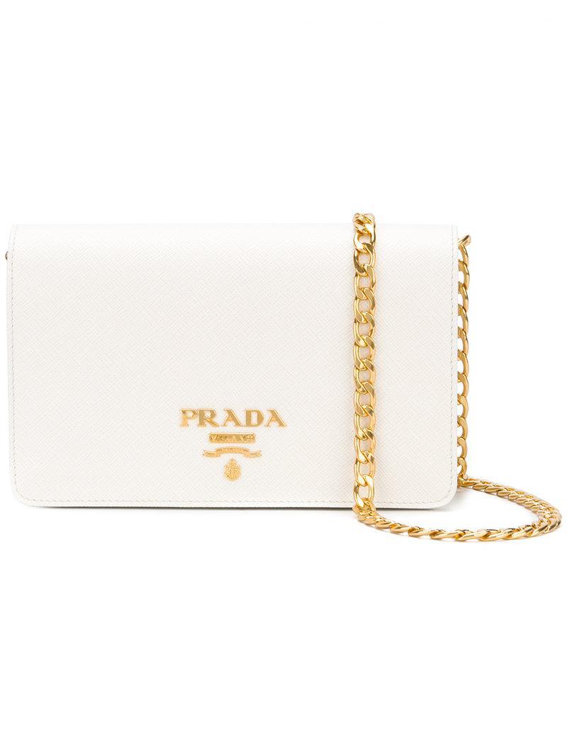 cheap prada logo clutch bag black 16c54 07c6c  usa prada clutch bag in  white lyst 71d65 e5499 63ace7342e46d