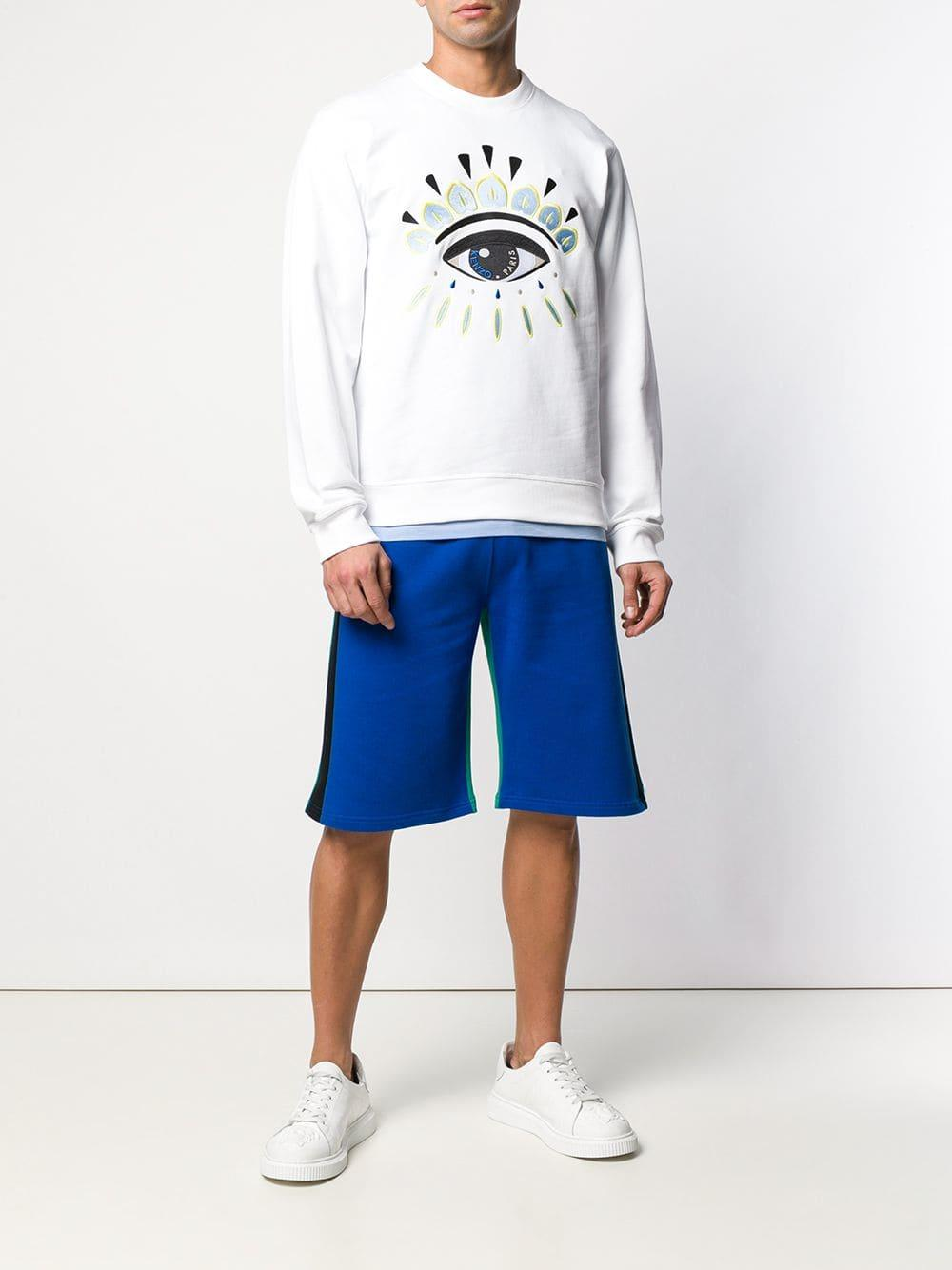 0c5ebe85b Lyst - KENZO Embroidered Eye Sweatshirt in White for Men - Save  4.803493449781655%